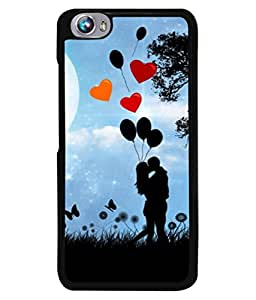 PrintVisa Designer Back Case Cover for Micromax Canvas Fire 4 A107 (Birds Tree Cloud Sunset Expression)