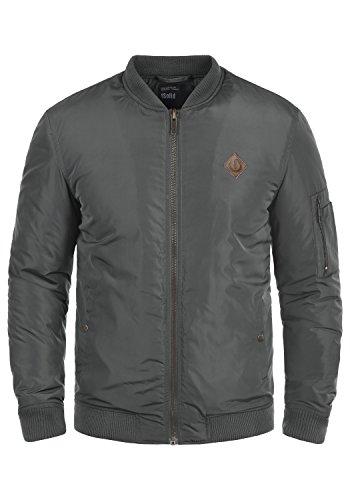 !Solid Park Herren Bomberjacke Übergangsjacke Jacke Mit Stehkragen, Größe:L, Farbe:Dark Grey (2890) Solid Windjacke