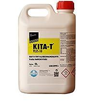 KITA-T® Plus 10 Desmanchante - Quitatintas calidad profesional. Producto altamente concentrado y de alto rendimiento. Botella 5 Lt.