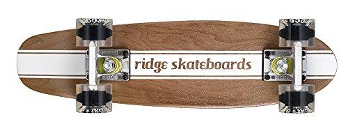Ridge Erwachsene Skateboard Maple Holz Mini Cruiser Number Four, Klar