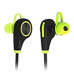 Leaf Ear Wireless Bluetooth Earphones with Mic || Sweatproof Earbuds || Best for Listening Music, Running, Gym || Passive Noise Cancellation || HD Stereo Sound Quality || Compatible with Iphones, IPads, Samsung and other Android Devices
