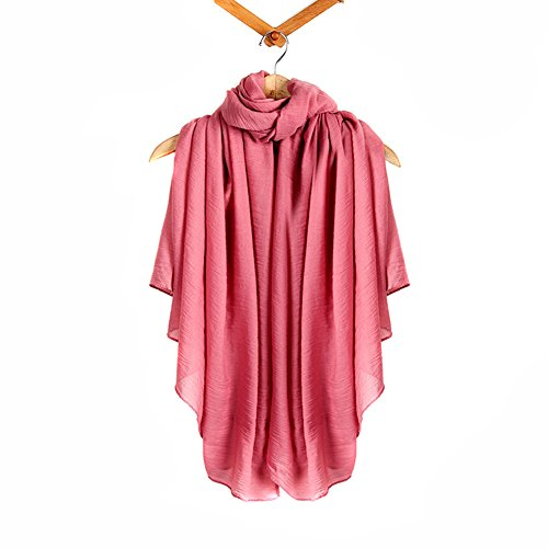 Warm morbida Crochet del Knit cotone e lino Wrap scialle sciarpa due stili infinity e dritta Wine red