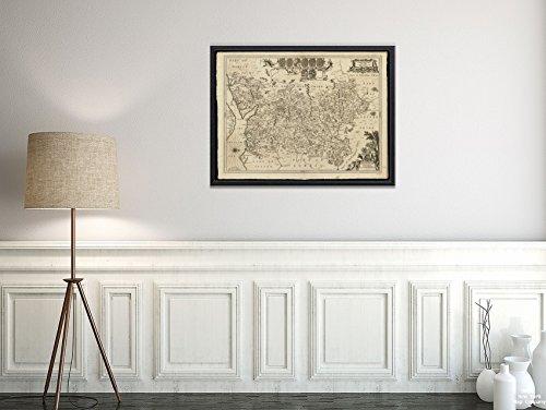 New York Map Company LLC 1646-1680 Karte Großbritannien; Hampshire- Hantoniae Comitatus Cum Bercheria Sammlung Alter Karten, Historischer Antik-Vintage-Stil, Nachdruck, fertig zum Rahmen. -