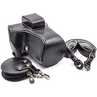 vhbw Polyurethan Foto-Tasche schwarz für Kamera Fuji / Fujifilm X-E3 with long objective