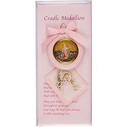Médaille Baptême Cadeau pour une fille-Rose bébé-Coffret Cadeau