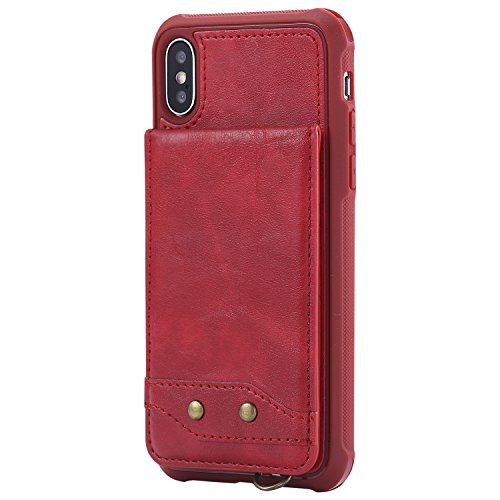 iPhone 6plus Case, Wallet Card Holder with Kickstand Slim Leather Cover for iPhone 6plus[with Free Tempered Glass Screen Protector]