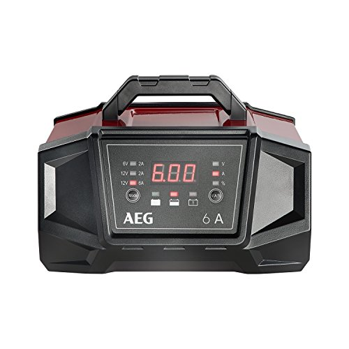 AEG Automotive 158007 Caricabatteria da Auto Officina WM 6 Ampere per 6 e 12 Volt Batterie, con Funzione Auto Start, CE, IP 20, 6