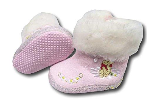 Winter Baby Schuhe. Mädchen Schuhe mit Disney Motive. Farbe Rosa (20-22)
