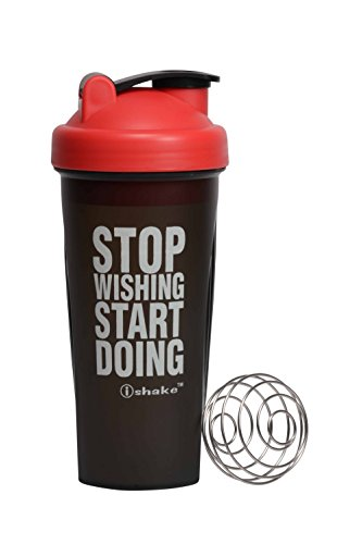 Ishake Spring Ball Shaker Bottle, 600ml (Red/Black)  available at amazon for Rs.273