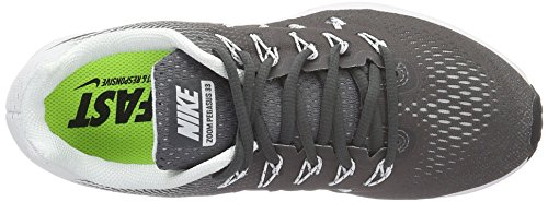 Nike Wmns Air Zoom Pegasus 33, Entraînement de course femme Gris (Dark Grey/black/white)