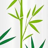 Tatkraft Bamboo Green Duschvorhang 180X180cm Peva Wasserdicht Schimmelfrei mit 12 Duschringen Test