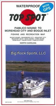 TOP Marques Collectibles Top Spot Map N239Pamlico Sound to