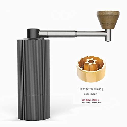YYMMQQ Kaffeemühle Zeit mehr Kastanie Nano FaltbareAluminium tragbare Kaffeemühle StahlmahlkernSuper manuelle KaffeemühleLager, Nano S