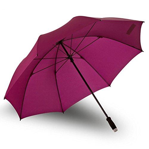 LUYIASI- Storm Umbrella Golf Regenschirm im Freien großen Griff Regenschirm Windproof Sonnenschutz geraden Regenschirm shoe rack ( Farbe : Lila )