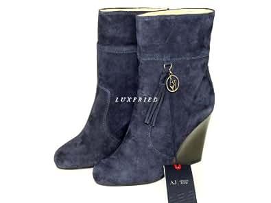 Armani Jeans Damenschuhe Shoe Keilstiefeletten Keilabsatz Plateau U5556 Gr.38