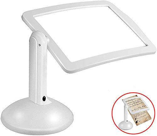 YOLE Drehbare Natürliche Leuchtstofflampe, Desktop-Lupe, Lupe Mit LED-Licht, 360 ° Flexible Halterung, Lesebrille Geschenk