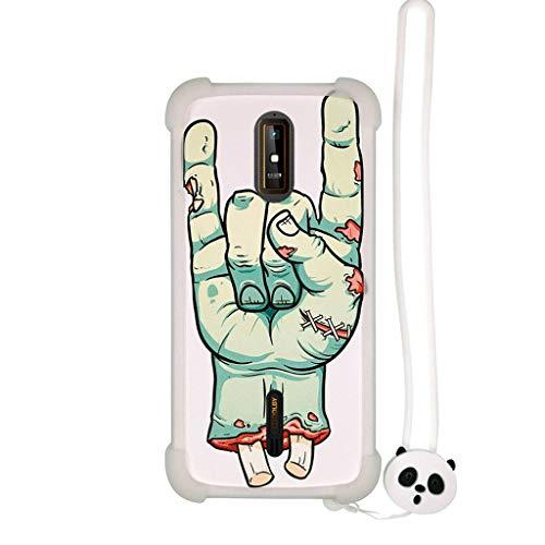 Lovewlb Hülle für Hisense Hs-G610m hülle Silikon Grenze + PC hart backplane Schutzhülle Case Cover Nacht-Leuchtende SZ