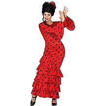 Atosa - Disfraz de flamenca para adulto, color rojo, 95-105 cm, talla M (111-28598)