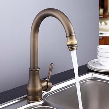 Furesnts Modern home bathroom and kitchen Taps Antique Brass Single Handle Oil Rubbed Bronze kitchen Taps,(Standard G 1/2 universal hose