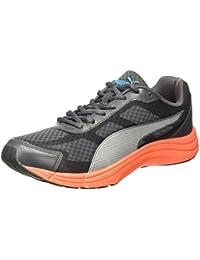 Puma Men s Expedite Idp Asphalt-Black-Red Blast-Silver Running Shoes 0542eac73