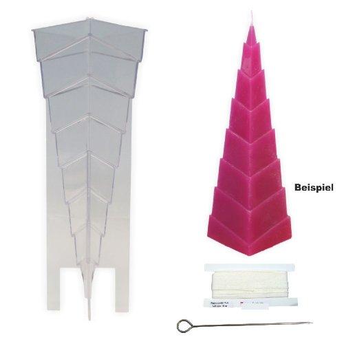 TrendLight 861260 Kerzengießform Stufenpyramide, 88 x 76 x 220 mm