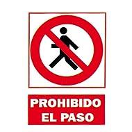 """2349B5 PVC-Schild mit der spanischen Aufschrift """"Prohibido El Paso"""" (Betreten verboten), 210x297mm"""