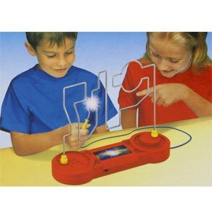 Kids Classics ~ Don`t Buzz the Wire Game ~ with 3 levels * A true test of skill, nerve and co-ordination - will you be the first to beat the wire?! It seems simple enough... guide your way around the wire without causing it to buzz. But beware; each of the three different levels are filled with curves, edges and dips designed to catch you out, and raise the alarm! Only a true champion can complete the challenge. Are you up for it?! by Kids