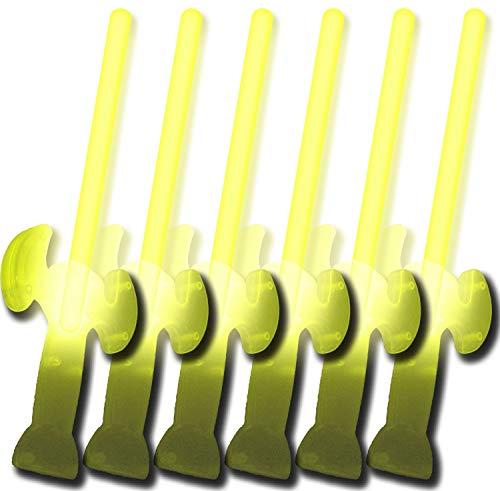 6 Knicklichter Schwerter GELB (5 kaufen + 1 Gratis!)