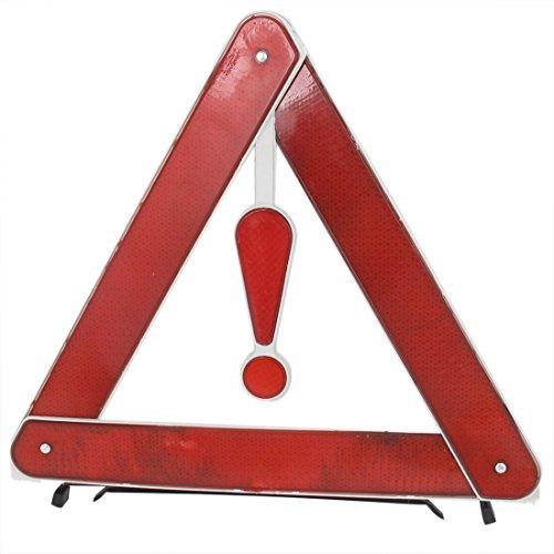 Preisvergleich Produktbild sourcing map Fahrbahn Notfall einziehbares Zeichen Warndreieck Stehen Rot Weiw Gelb Kasten