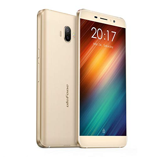 Ulefone S8 - Smartphone Libre 3G, 5.3' HD 1280 x 720, Android 7.0, 16GB ROM+2GB RAM, MT6580 Quad Core 1.3Ghz, Cámara de 13MP/5MP, Batería 3000mAh,Dual SIM (Dorado)