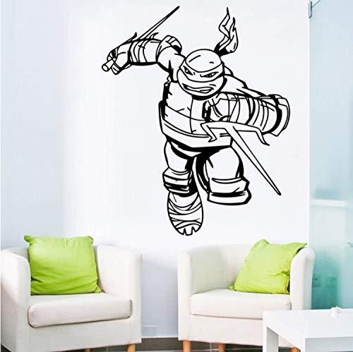 ZGQQQ Ninja Turtles Wandtattoo Jungen Schlafzimmer Superheld Wandaufkleber Dekor Kinder Wandtattoos Kinderzimmer Dekor Fenster ()
