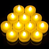 Babz 12 x FLICKERING LED TEA LIGHT CANDLES TEALIGHT TEA...