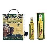 Peza Union Griechisches Olivenöl extra nativ PDO 3 Liter Bag in Box Karton mit Zapfhahn Oliven Öl von Kreta extra virg