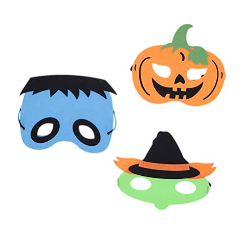 NUOBESTY Halloween Maske Cartoon Kürbis Vogelscheuche Maske Cosplay Zubehör Foto Prop für Halloween Party 3 Stück (Vogelscheuche Kostüm Zubehör)
