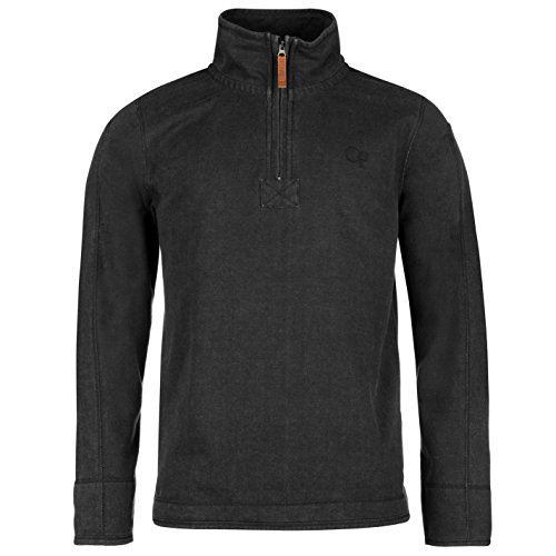 ocean-pacific-hommes-pique-sweater-sweatshirt-1-2-zip-col-montant-top-haut-gris-fonce-large