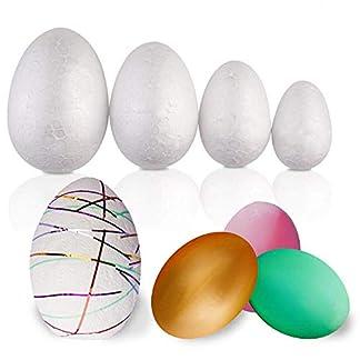 THE TWIDDLERS Paquete de 50 Huevos de Pascua Surtidos de Espuma de Poliestireno – Variedad de tamaños – Ideal para decoración, niños en Pascua, artesanía, Manualidades, moldear y Pintar.