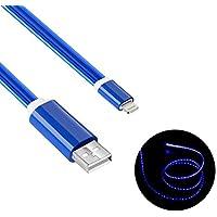 Geabon iOS USB iPhone Chargeur Cable Lightning, Câble de Charge iphone, Lightning Câble iPhone, Lumière LED Câble iphone 1m, Apple Câble iPhone pour iPhone X/ 8/8/Pus 7/7 Plus / 6s / 6s Plus / 6/6 Plus / 5s / 5c / 5 / iPad/iPod (Bleu)