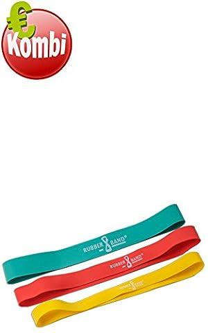 Dittmann Rubber-band®-Elastique de fitness - 3er Kombi (1 x je Farbe) 3er Kombi (1 x je Farbe)