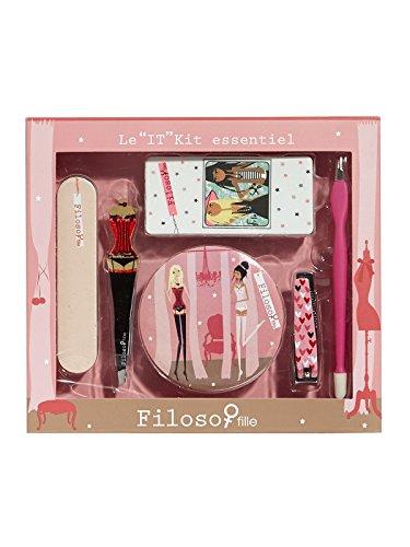 Filosofille Kit Essentiel Set Accessoire Beauté 6 Pièces Motif Dentelle In Love