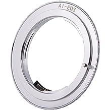 XCSOURCE Adaptador de lente programable con el más reciente EMF AF Confirme el chip para el montaje Nikon Lente de montaje AI / AI (D) / AIS / F a la cámara Canon EOS DC746