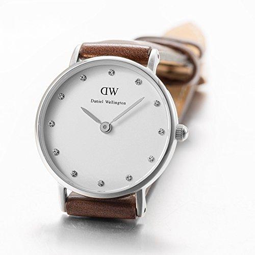 aa50ba8af4fc Daniel-Wellington-0923DW-Classic-bristol-Reloj-con-correa-de-cuero-para- mujer-color-blanco-y-marrn