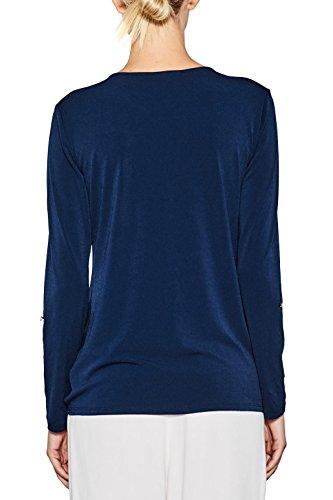 ESPRIT Collection Maglia a Maniche Lunghe Donna Blu (Navy 400)