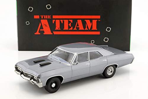 Greenlight Chevrolet Impala Sport Sedan Baujahr 1967 TV-Serie Das A-Team (1983-87) blaugrau 1:18