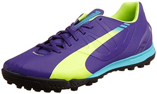 Puma Evospeed 4.3 Tt Herren Fußballschuhe - Violet - Violett (prisma Viola-fluro Giallo-scuba Blu 01)
