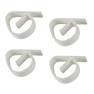 lot de 12 nappe pince pour tables de jardin en plastique couleur blanc r sistant aux. Black Bedroom Furniture Sets. Home Design Ideas