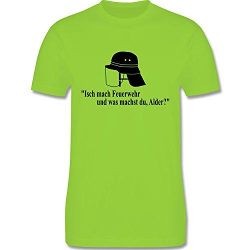 Feuerwehr - Ich mach Feuerwehr und was machst Du - Herren Premium T-Shirt Hellgrün
