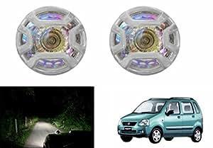 Speedwav 1x1R Rainbow Glass Auxiliary Lights Set Of 2-Maruti WagonR Type 1 (1998-2003)