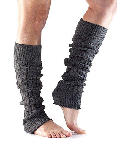 Jambière ToeSox genou haute pour danse, yoga, Pilates, Fitness–Fashion Jambières gris charbon