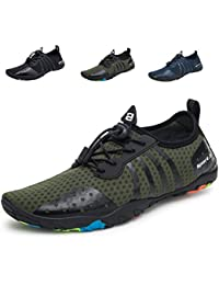 LeKuni Unisex Zapatos de Agua de Natación Calzado de Secado Rápido Respirable Soles de Color Zapatos de…
