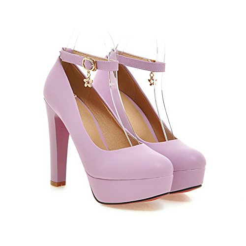 BalaMasa fibbia massiccio, da donna, in gomma, motivo scarpe con tacco Purple